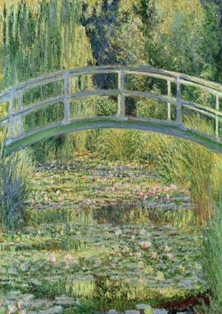 Monet, Claude: Waterlily Pond. Fine Art Print/Poster. Sizes: A4/A3/A2/A1 (003217)